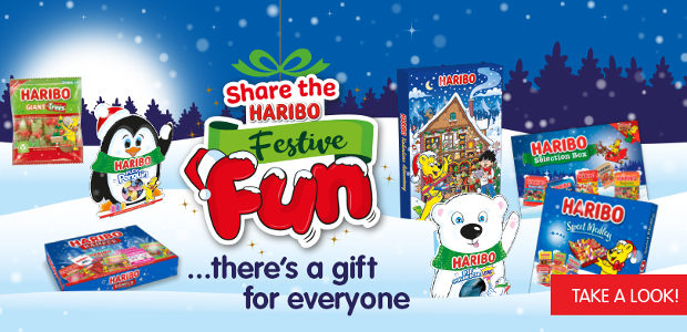 SHARE THE FESTIVE FUN WITH HARIBO www.haribo.co.uk TWITTER   LINKEDIN […]